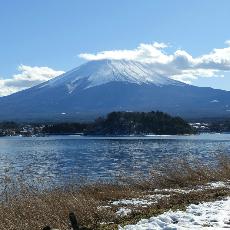 冬季河口湖(富士山)